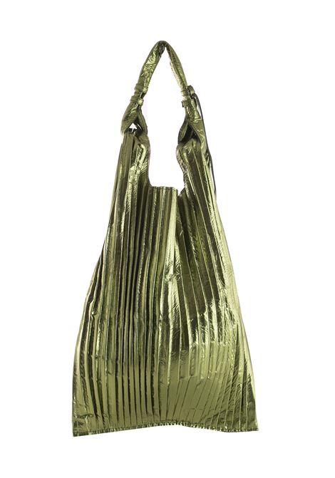 PICASSO LEATHER PURSE BAG ANITA BILARDI | Bags | PICASSO PLISSE'LAMINA ARMYVERDE