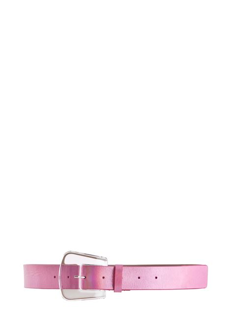 PINK GLOSSY LEATHER BELT B-LOW THE BELT | Belts | BH272921LEROSA