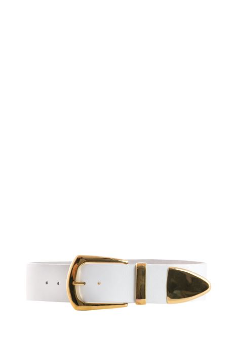 WHITE LEATHER BELT B-LOW THE BELT | Belts | BW296000LEBIANCO