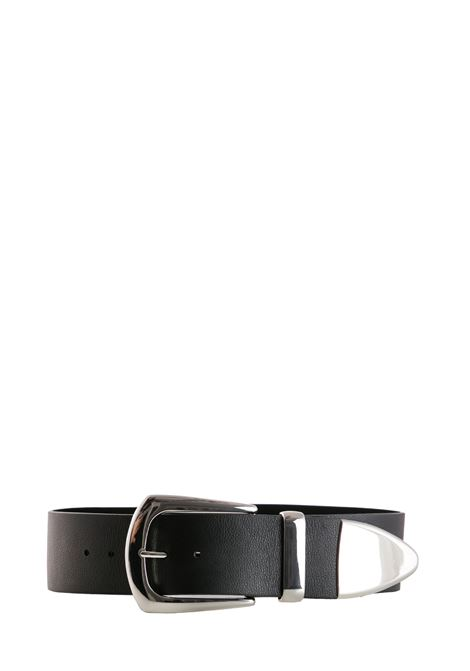 BLACK LEATHER BELT B-LOW THE BELT | Belts | BW296000LENERO