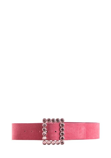PINK SUEDE LEATHER BELT B-LOW THE BELT | Belts | BW332000SDROSA