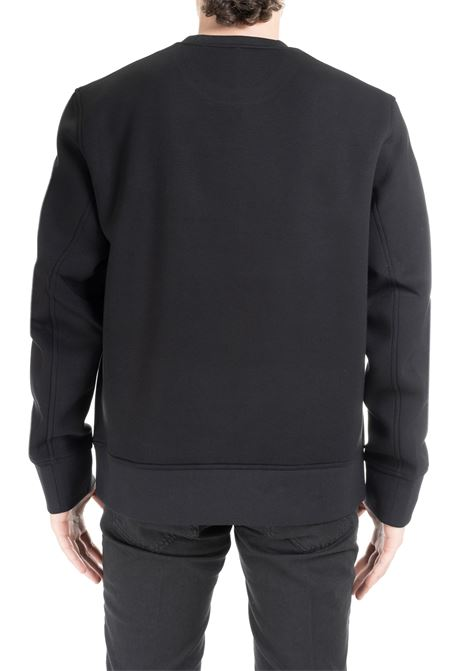 BLACK RAYON SWEATSHIRT WITH FRONT LETTERING BLACKBARRETT | Sweatshirts | XJS824NERO