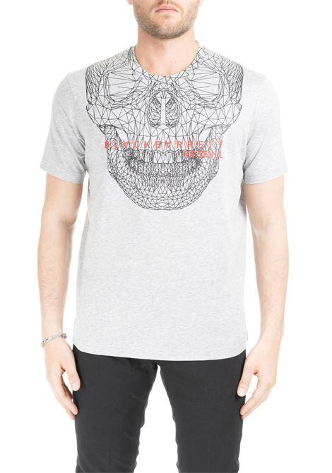 GRAY T-SHIRT WITH SKULL PRINT BLACKBARRETT | T-shirt | XJT266GRIGIO