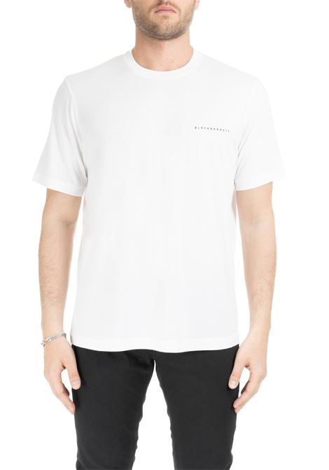 T-SHIRT BIANCA BASIC CON LOGO PICCOLO BLACKBARRETT | T-shirt | XJT268BIANCO