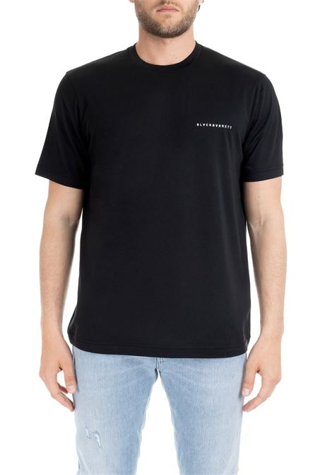 T-SHIRT NERA BASIC CON LOGO PICCOLO BLACKBARRETT | T-shirt | XJT268NERO