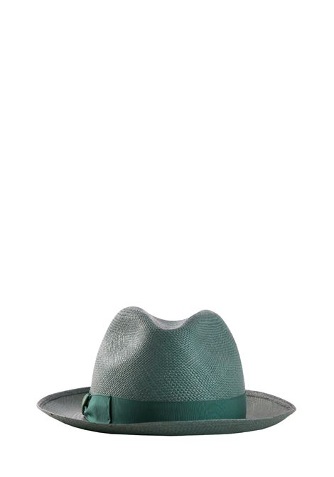 BRISA HAT IN GREEN STRAW BORSALINO | Hats | BRISA2321007691