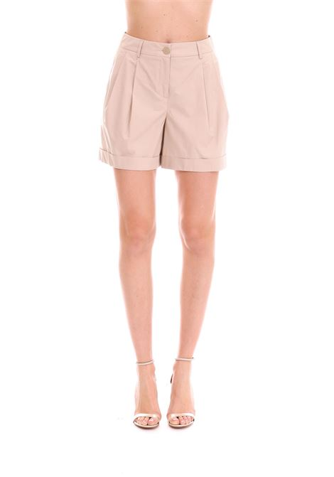 BEIGE SHORTS HIGH WAIST WITH TURN UP BOUTIQUE MOSCHINO | Pants | 032082645