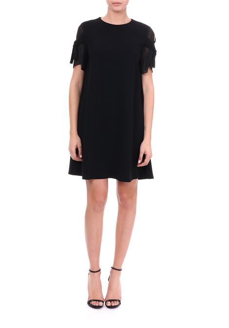 BLACK MINI DRESS WITH KNOTS BOUTIQUE MOSCHINO | Dress | 04621124A0555