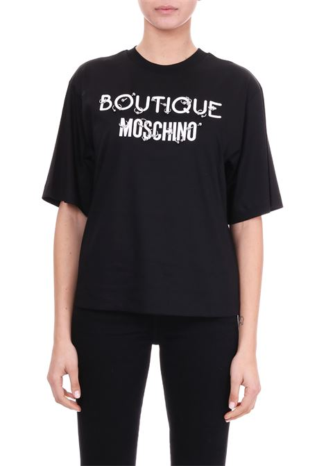 T-SHIRT IN COTONE CON PIERCING BOUTIQUE MOSCHINO | T-shirt | 12081144A1555
