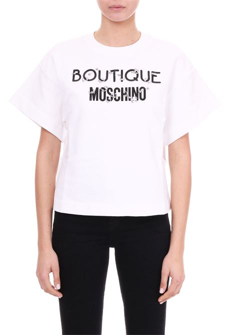COTTON JERSEY SWEATSHIRT BOUTIQUE MOSCHINO | Sweatshirt | 17051125A1002