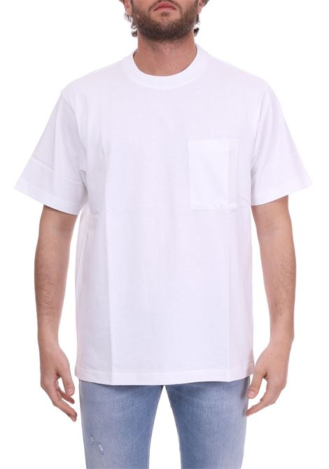 LOGO EMBROIDERY POCKET WHITE T-SHIRT CALVIN KLEIN | T-shirt | K10K103345105BIANCO