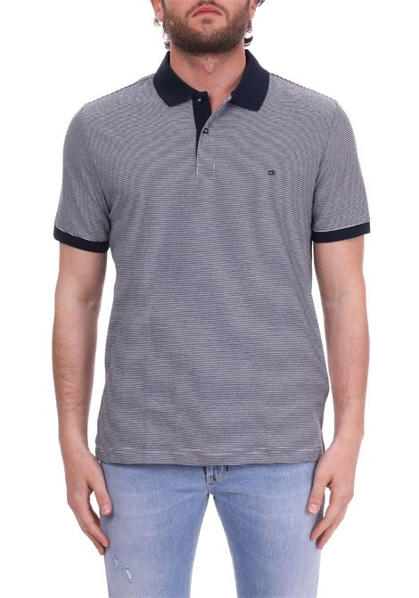 STRIPED POLO WITH MINI FRONT LOGO CALVIN KLEIN | Polo Shirts | K10K103376484FANTASIA