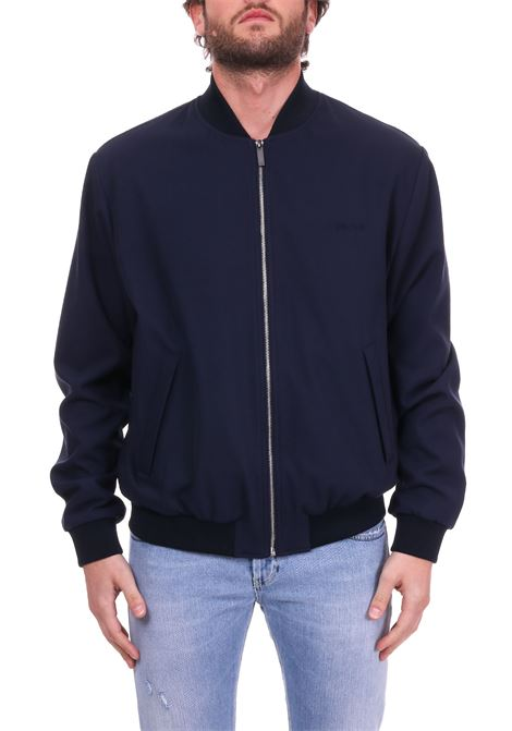 BLUE COTTON TWILL BOMBER JACKET CALVIN KLEIN | Jackets | K10K103665484BLU