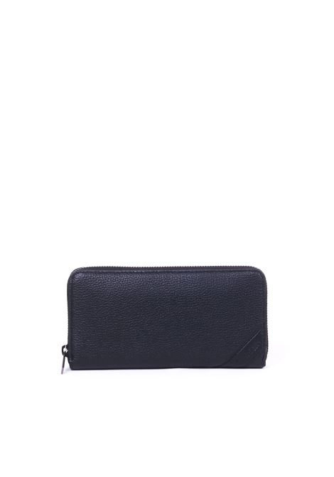 BLACK LONG WALLET WITH INTEGRAL ZIP CALVIN KLEIN | Wallets | K50K504257001NERO