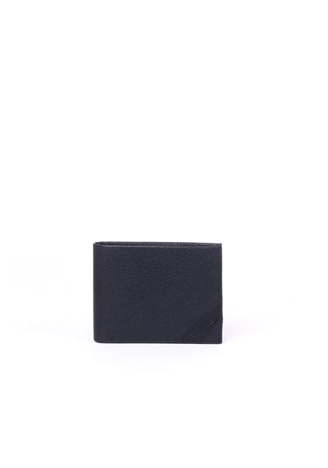 BLACK LEATHER WALLET DETAIL  LOGO CALVIN KLEIN | Wallets | K50K504260001NERO