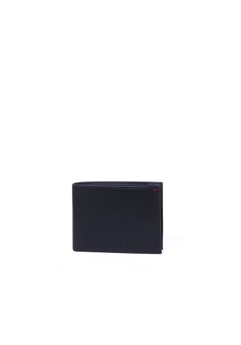 BLACK WALLET IN LEATHER LOGO ENGRAVED CALVIN KLEIN | Wallets | K50K504269001NERO