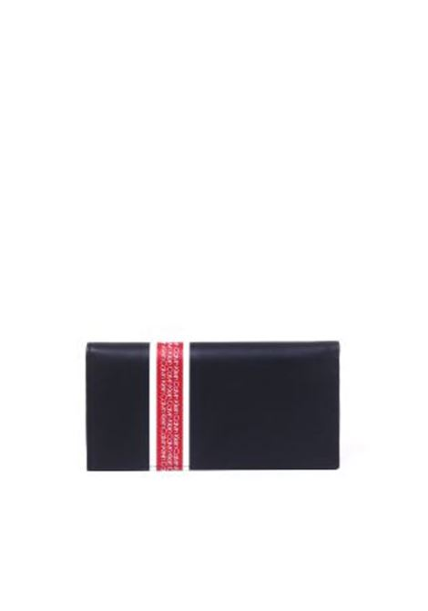 BLACK WALLET WITH CONTRASTED LOGO BAND CALVIN KLEIN | Wallets | K50K504331NERO