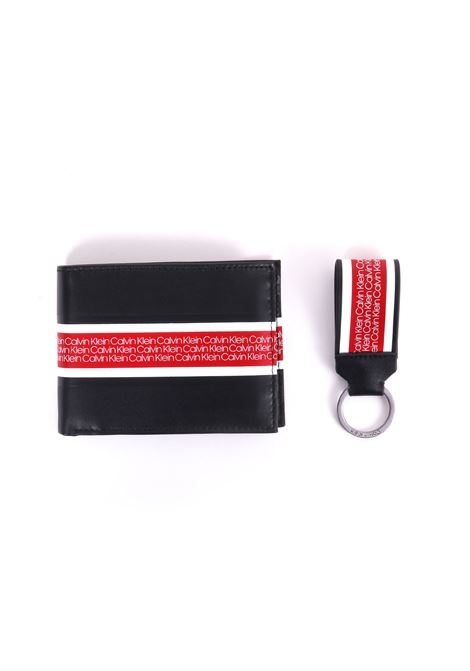KIT RED / BLACK WALLET AND KEYRING CALVIN KLEIN | Wallets | K50K504332001 (KIT)NERO