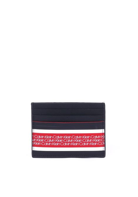 BLACK /RED DOCUMENT HOLDER WITH BANDA LOGO CALVIN KLEIN | Portacarte | K50K504335001NERO