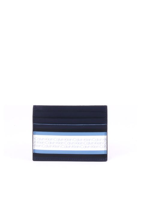 BLACK / BLUE DOCUMENT HOLDER WITH BANDA LOGO CALVIN KLEIN | Card Holder | K50K504335449NERO