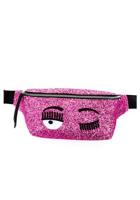PINK GLITTER WAIST BAG WITH EMBROIDERY CHIARA FERRAGNI |  | CFBB007ROSA