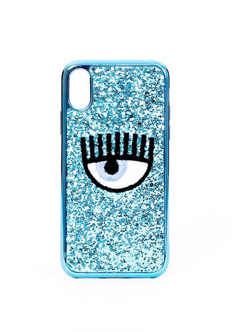 COVER IPHONE X EYE GLITTER BLUE CHIARA FERRAGNI | Case | CFCIPX031AZZURRO