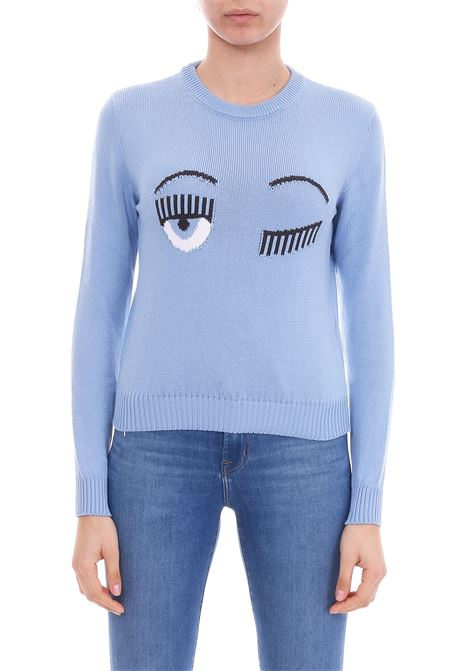 'FLIRTING' SWEATER BLUE CHIARA FERRAGNI | Sweaters | CFJM024AZZURRO