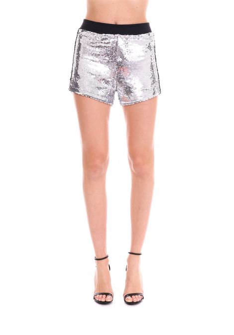 SHORTS WITH SILVER PAILLETTES ALL OVER CHIARA FERRAGNI | Shorts | CFS019ARGENTO