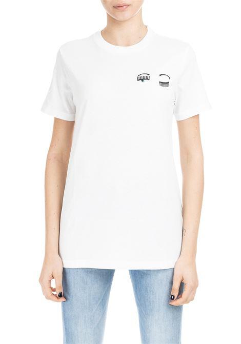 SMALL FLIRTING T-SHIRT - WHITE CHIARA FERRAGNI | T-shirt | CFT010BIANCO