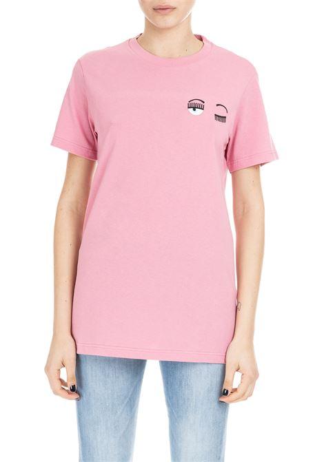 SMALL FLIRTING T-SHIRT - PINK CHIARA FERRAGNI | T-shirt | CFT010ROSA