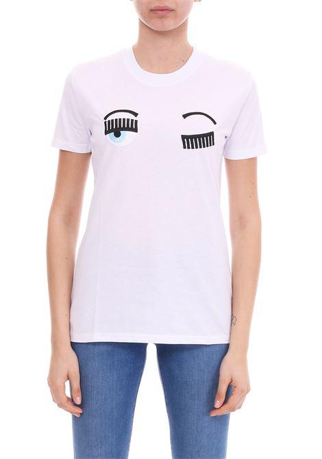 WHITE 'FLIRTING' T-SHIRT CHIARA FERRAGNI | T-shirt | CFT057BIANCO
