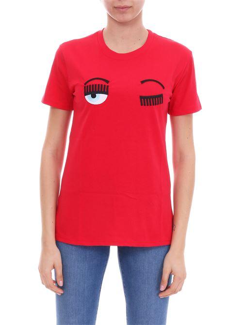 RED 'FLIRTING' T-SHIRT CHIARA FERRAGNI | T-shirt | CFT057ROSSO