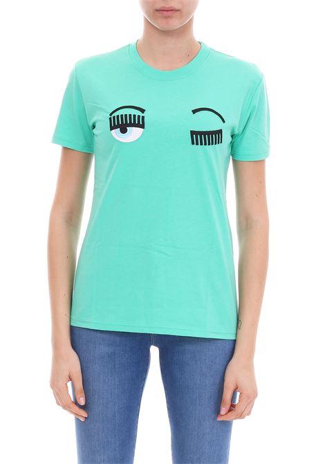 T-SHIRT 'FLIRTING' VERDE CHIARA FERRAGNI | T-shirt | CFT057VERDE