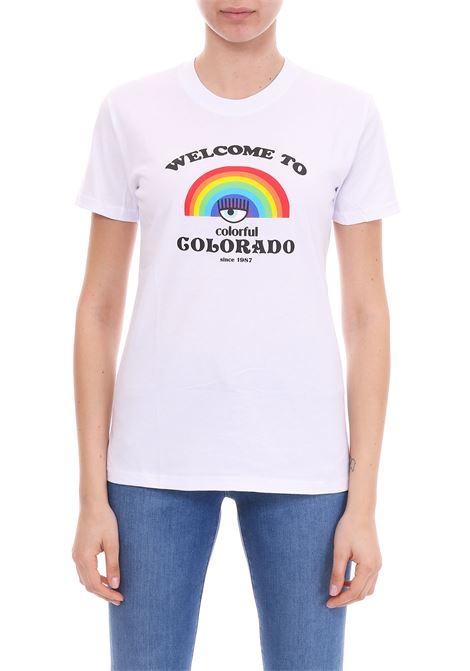 T-SHIRT 'WELCOME TO COLORADO' CHIARA FERRAGNI | T-shirt | CFT077BIANCO