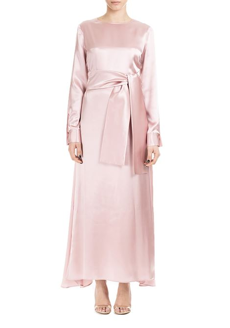 PINK LONG DRESS IN PURE SILK WITH SASH CO.GO | Dress | GV0018SE03430