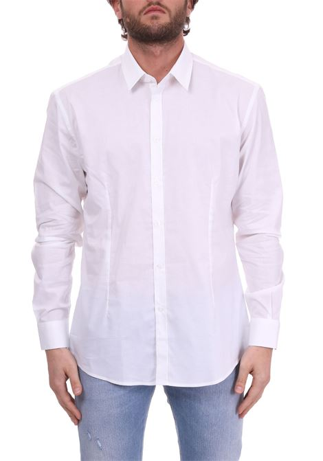 WHITE BASIC SHIRT IN COTTON POPLIN DANIELE ALESSANDRINI | Shirts | C1507B75139002