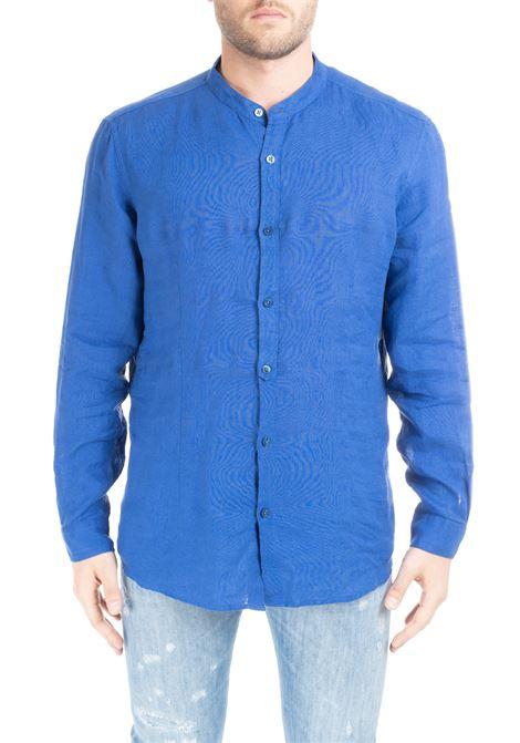 BLUE  RIANDOLO SHIRT IN LINEN DANIELE ALESSANDRINI | Shirts | C6371R3393901103