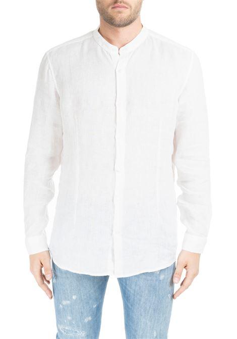 WHITE RIANDOLO SHIRT IN LINEN DANIELE ALESSANDRINI | Shirt | C6371R33939012