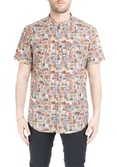 RIORDINE SHIRT WITH ALL-OVER PRINT DANIELE ALESSANDRINI | Shirts | C6562S2197390115