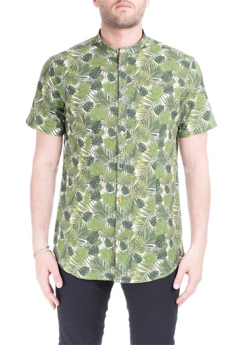 SHIRT WITH ALL-OVER LEAVES PRINT  DANIELE ALESSANDRINI | Shirts | C6562S2197390133