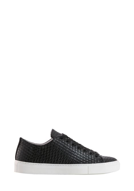 BLACK STRIPED SHOES DANIELE ALESSANDRINI | Sneakers | F884K39011