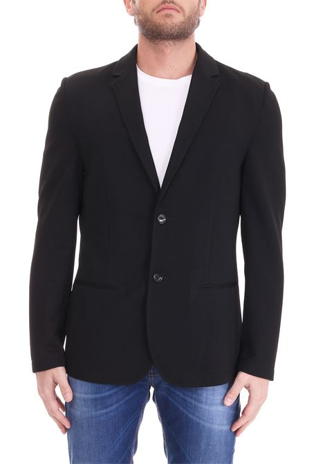 BLACK JACKET WITH BASIC LAPEL DANIELE ALESSANDRINI | Jackets | G2717N72639001
