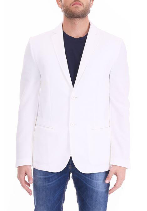 WHITE TAMBORA JACKET DANIELE ALESSANDRINI | Jackets | G2955N72639012
