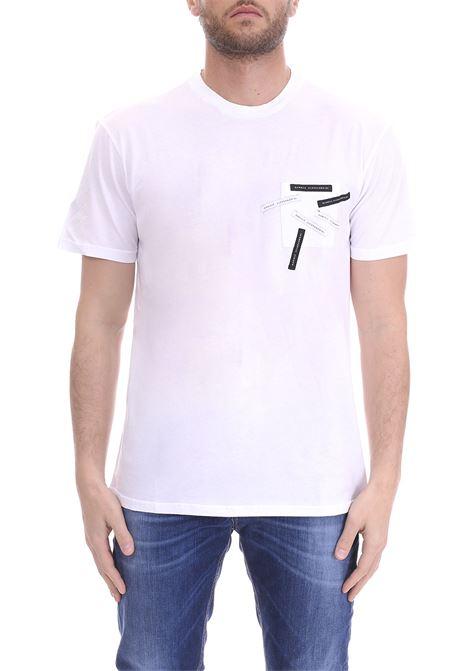 T-SHIRT BIANCA PATCH LOGO DANIELE ALESSANDRINI | T-shirt | M6924E64339012