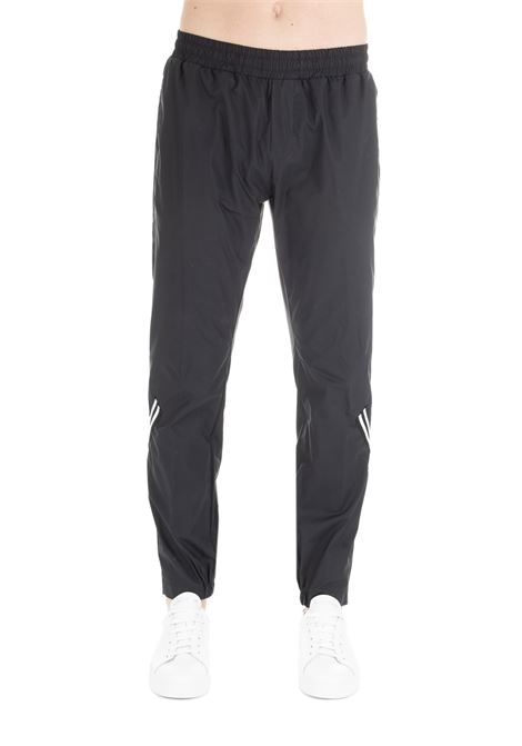 BLACK CASUAL TROUSERS IN COTTON DANIELE ALESSANDRINI | Pants | P3676R123739011