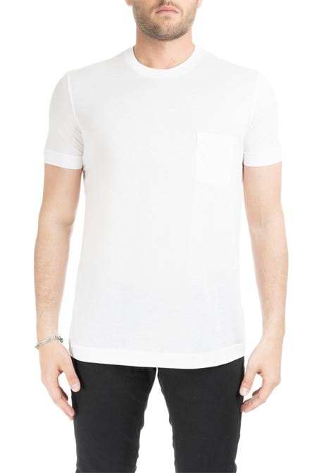 WHITE SHORT SLEEVE T-SHIRT WITH POCKET DELLA CIANA | T-shirt | 0054/501B0100