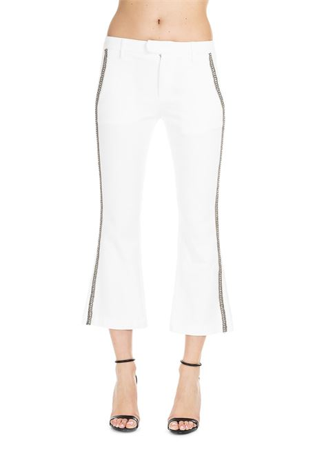 WHITE BENEDICTE TROUSERS DONDUP | Jeans | DP391TBS0009PTDPDDS19000