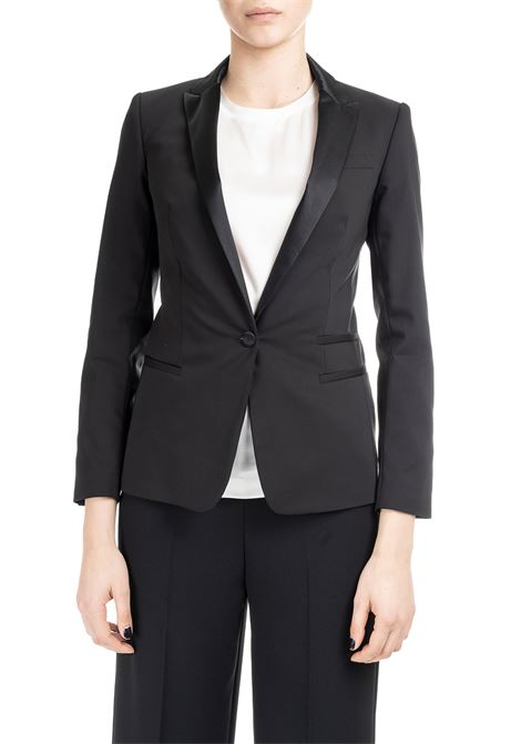 TAILORED BLAZER IN BLACK FABRIC DONDUP | Jackets | J615CS0098XXXPDDS19999