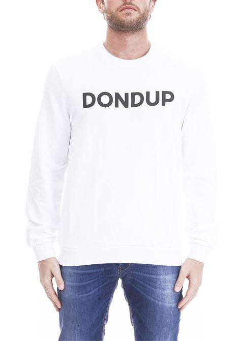 WHITE SWEATSHIRT WITH LOGO PRINT DONDUP | Sweatshirts | UF500KF0136H29DUS19000