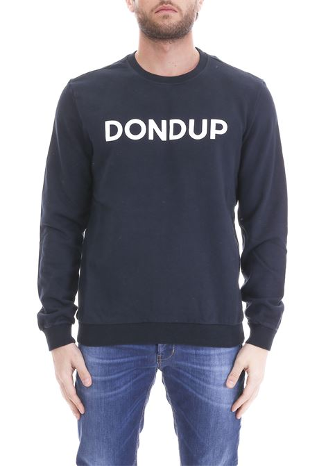 BLUE SWEATSHIRT WITH LOGO PRINT DONDUP | Sweatshirts | UF500KF0136H29DUS19897